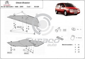 Scut motor metalic Citroen Evasion