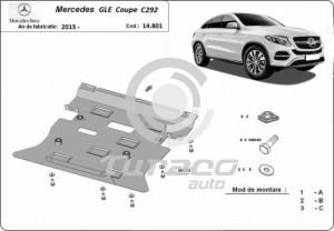 Scut motor metalic Mercedes GLE Coupe C292