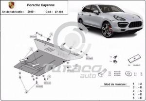 Scut motor metalic Porsche Cayenne