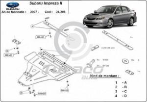 Scut motor metalic Subaru Impreza, motorizare benzina