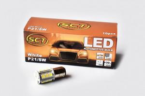 Set becuri LED P21/5W LED 12V 18x5050 BAY15d (10 BUC)