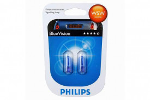 Set de 2 becuri W5W 12V W2,1X9,5d BLUE VISION (BLISTER)