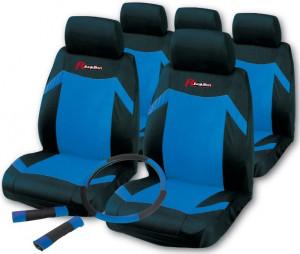 Set huse scaune Indy Negru/Albastru