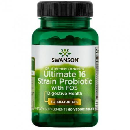 Poze Complex 16 Probiotice + Prebiotice FOS 60 capsule Dr Stephen Langer's Ultimate pentru Imunitatea Tractului Digestiv