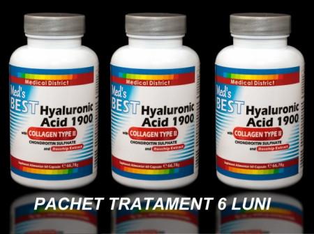 Poze Best Hyaluronic Acid 1900 si Colagen de Tip 2, Tratament Naturist Artrita Reumatoida Coxartroza Gonartroza - 6 LUNI Pret Hialuronic *