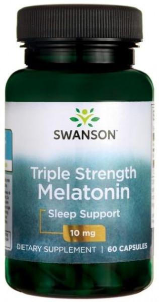 Poze Melatonina 10 mg 60 capsule Induce Starea de Somn Naturala*