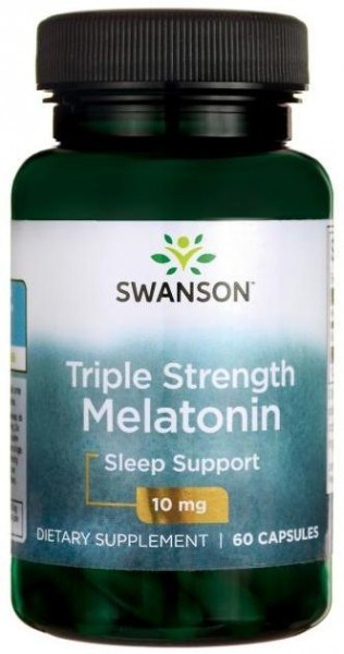 Poze Triple Strenght Melatonin - Melatonina Forte Pura 10 mg 60 capsule Pastile Somn Prospect