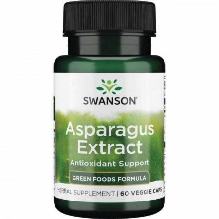 Poze Asparagus Extract Standardizat din Sparanghel cu rol in sustinerea sanatatii sistemelor urinar, guta 60 capsule Swanson