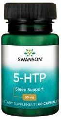 Poze 5 HTP 50 mg 60 capsule suport in sinteza serotoninei si mentinerea sanatatii sistemului nervos Swanson 5htp