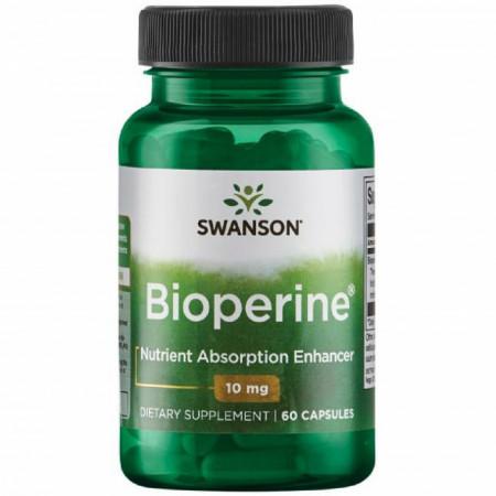 Poze Bioperine®- Extract de Piper Negru 10 mg 60 capsule Swanson