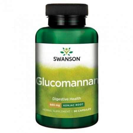 Poze Glucomannan- radacina de Konjac 665 mg 90 capsule