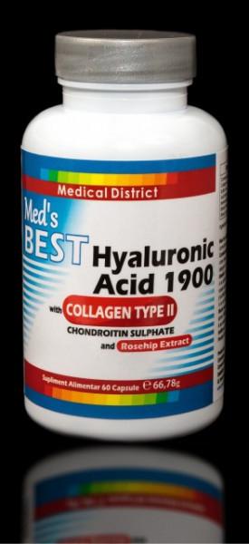 Poze Best Hialuronic Acid 1900 cu Colagen Tip 2, Tratament Naturist Artrita Reumatoida Coxartroza Gonartroza -2 LUNI Pret Hyaluronic *
