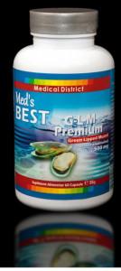 G-L-M Premium Green Lipped Mussel (Perna canaliculus) Scoica cu Cochile Verde 500 mg Pret 2 LUNI Gonartroza, Coxartroza, Hernie de Disc *
