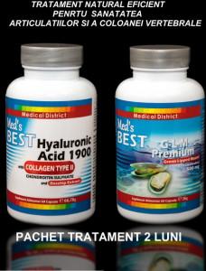 Tratament Natural Eficient Coxartroza, Gonartroza, Afectiuni Reumatismale 2 LUNI Pret Best Hyaluronic Hialuronic Colagen tip 2 Scoica *