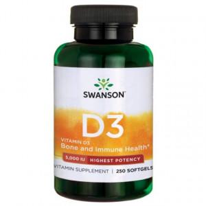 Vitamina D-3 5000 Ui 250 capsule moi Swanson