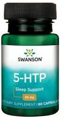 5 HTP 50 mg 60 capsule suport in sinteza serotoninei si mentinerea sanatatii sistemului nervos Swanson 5htp