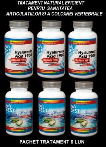 6 Luni Tratament Natural Eficient Coxartroza, Gonartroza, Afectiuni Reumatismale Pret Acid Hyaluronic cu Collagen Tip 2 Hialuronic Colagen *
