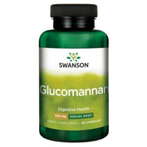Glucomannan- radacina de Konjac 665 mg 90 capsule