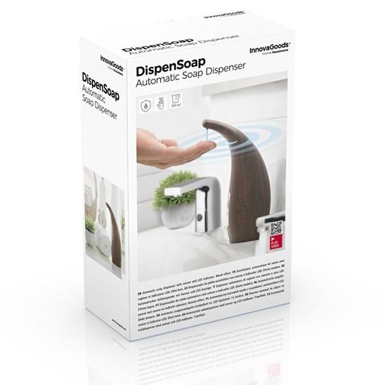 Dozator automat de sapun cu senzor de miscare imitatie lemn nobil inchis
