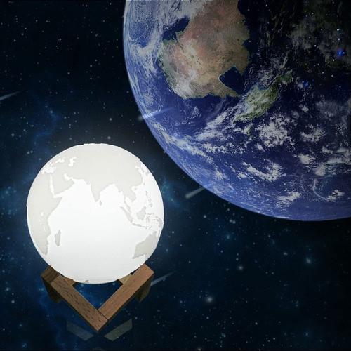 Lampa 3D Planeta Pamant Tactila si Reincarcabila