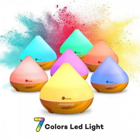 Difuzor aroma ultrasonic LED Wood Mood 300 ml