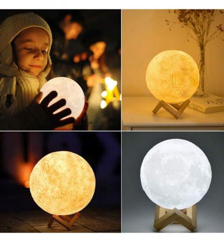 Lampa 3D Luna Multicolora
