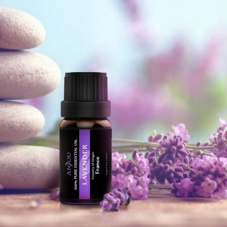 Set cadou 12 uleiuri esentiale aromaterapie Anjou 12x5ml puritate 100%
