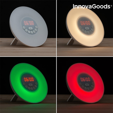 Ceas desteptator Rasarit de soare cu radio FM și 7 culori LED