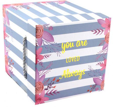 Ambalaje cadouri premium cutie blue stripes1