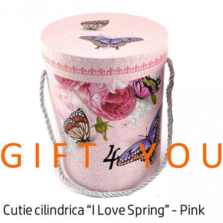 """Cutie cadou """"I Love Spring"""" - Pink"""