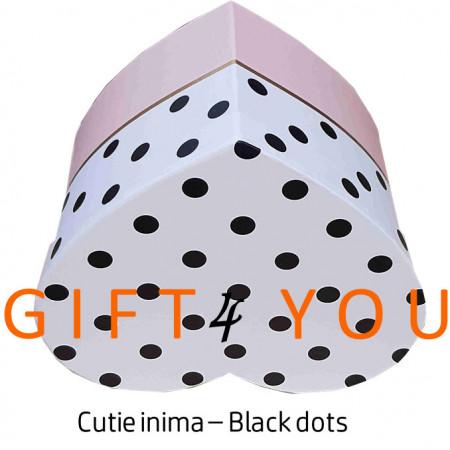 Cutie cadou Heart dots – Pink&White