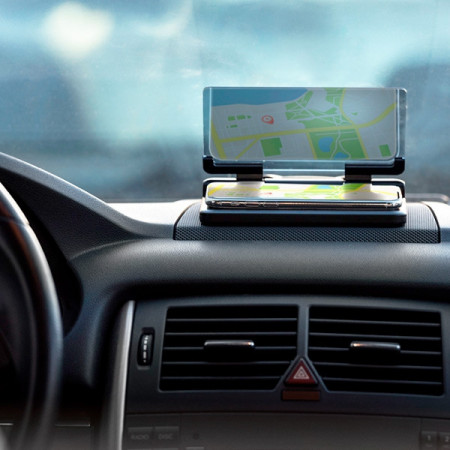 Suport de telefoane pentru masina cu dublarea imaginii pe ecran