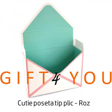 Cutie poseta tip plic - Roz