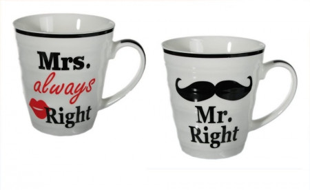 Set cani Mr Right & Mrs Always Right