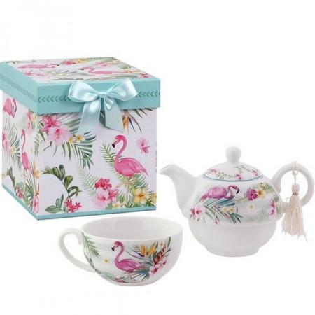 Set de ceai Pink Flamingo