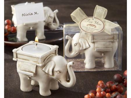 Suport lumanare Elefant norocos Feng Shui