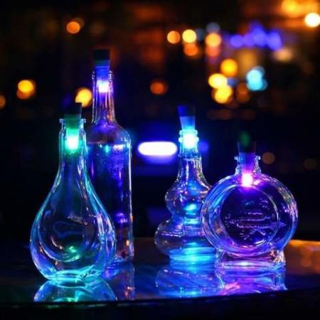 Ornament dop cu Led pentru sticle reincarcabil