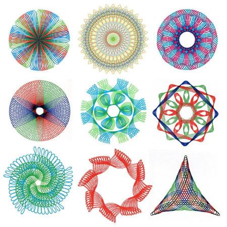 Spirograph – Set de sabloane pentru desen geometric creativ