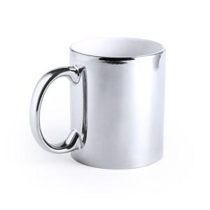 Cana ceramica argintie