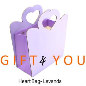 Cutie cadou Heart Bag - Lavanda