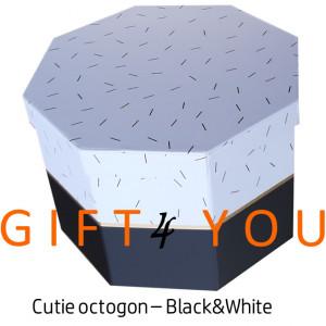 Cutie cadou octogon – Black&White