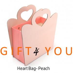 Cutie cadou Heart Bag - Peach