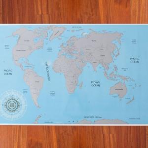 Harta lumii razuibila pentru copii
