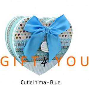Cutie cadou inima - Blue