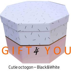 Cutie cadou octogon – Pink&White
