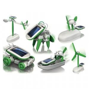 Kit Robot Solar 6 in 1 echipat cu Baterie Solara si Motor
