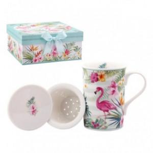 Cana de ceai Pink Flamingo