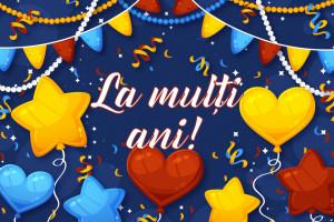 Felicitare aniversara La Multi Ani - Happy