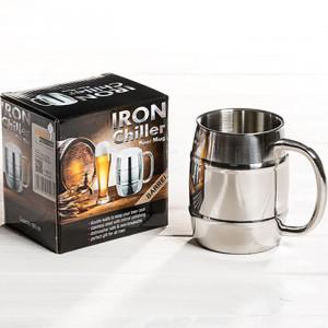 Halba de bere metalica cu pereti dubli Iron Chiller, 400 ml