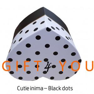 Cutie cadou Heart dots – Black&White